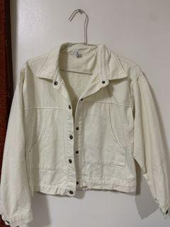 ʚ 二手 ɞ 白色短版牛仔外套