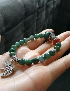 緬甸玉滿綠珠設計款手鍊