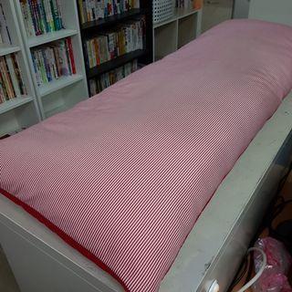 紅色 條紋 長型抱枕 枕頭 【日式二手店 大和堂】