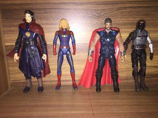 Action Figure Thor, Dr Strange, Winter Soilder, & Captain Marvel
