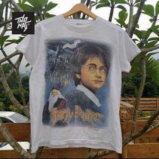 kaos Rare Vintage Harry Potter And the Sorcerer's Stone double side print M