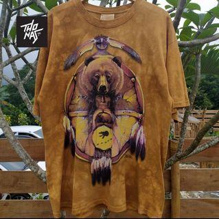 Kaos Vintage Bear Shield Indian Native Art The Mountain XL
