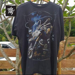 kaos Vintage Bootleg Ghost Rider Michael Athletic XL