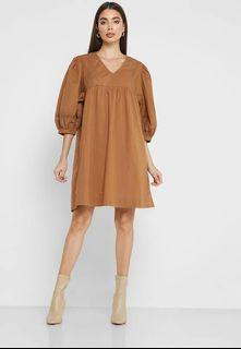 taupe dress from Singapore