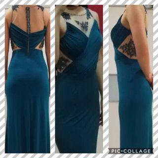 Teal Elegant Gown
