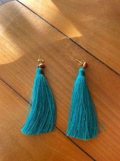 土耳其藍流蘇耳環