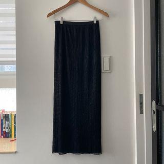 小細摺閃閃鉛筆長裙