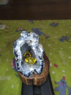 可愛瑪瑙小晶洞~洞深聚財,精緻好擺設,調和風水能量