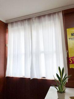 米白色窗簾 不收邊 (共四片)會微透光