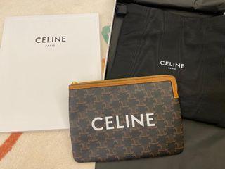 全新 Celine 新款老花手拿包