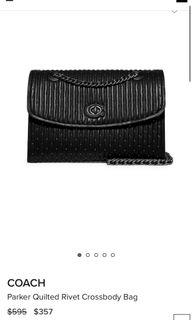 BNWT authentic coach parker quilted rivets