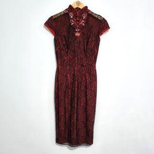 Fluorescence Cheongsam Dress - 99% New
