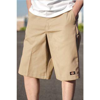 【現貨】Dickies 彈力款 卡其色 khaki  男款 美式嘻哈工裝 休閒工作短褲 復古潮流