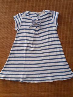 Dress zarà Striple blue