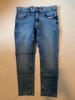 GU jeans 牛仔褲 藍色