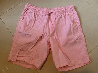 H&M shorts 短褲 粉紅色