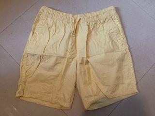 H&M shorts 短褲 黃色