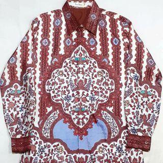 Kemeja batik tulis sutra ATBM Dian pelangi