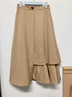 日本Riche glamour卡其色造型長裙