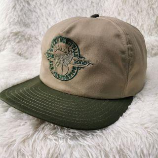 Vtg Rocky Mountain National Park Adjustable Leather Cap Hat Outdoor