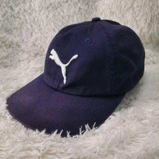Vtg Y2K Puma Big Logo Adjustable Cap Hat