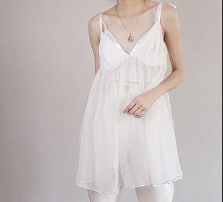 100% Original! Ivory Victoria's Secret Vintage Camisole Slip Dress