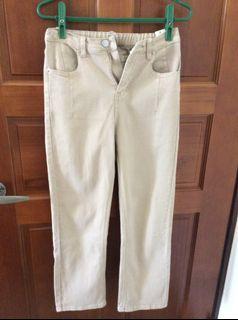 (全新)杏色直筒褲