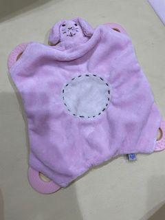 粉紅狗多功能安撫固齒巾