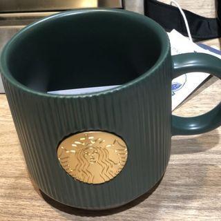 全新📍上海星巴克女神馬克杯 墨綠條紋款 #不鬆懈