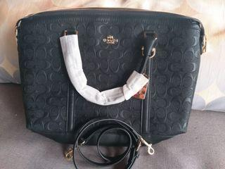 Coach Embossed Leather Bag