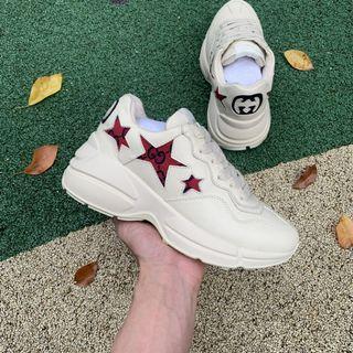 Gucci Rhyton Sneakers 528892 DRW00 5752 White/Red Women's Size EUR36-39 Men's Size EUR40-44