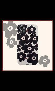 ʚ 全新 ɞ iPhone XR 手機殼 黑色花朵