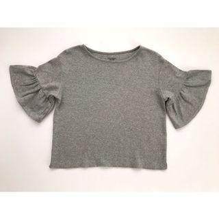 Lowrys Farm Bell Sleeve Gray Top