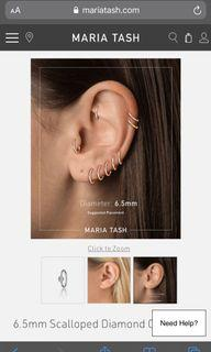 Maria Tash 6.55mm 18k Diamond Clicker Earring