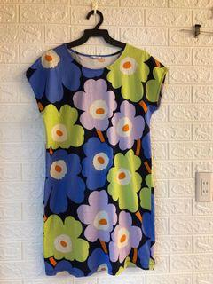 Marimekko  正櫃商品  超美經典 花花洋裝  棉質  尺寸M