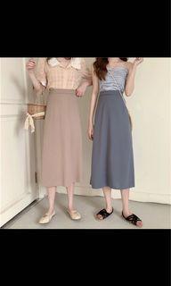 Midi Skirt (hanya warna cream sebelah kanan)