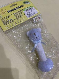 Nacnac藍色熊頭手搖鈴