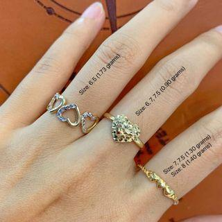 New! (price posted based on per gram) 3 designs 💍 18K VSPL Heart Ring 💯% authentic, pawnable, money back guarantee, high appraisal rate. Please see photos for details
