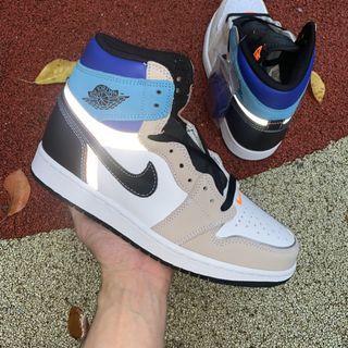 Nike Air Jordan 1 High OG Pro Shoes Multi-Color DC6515-100 Women Size EUR36-39 Men Size EUR40-47.5