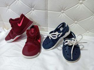 Nike and Crocs Shoes and Sandals Bundle for kids