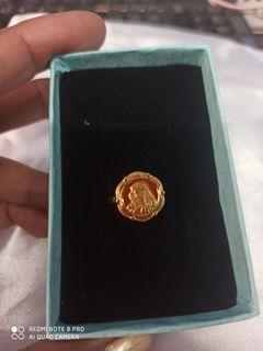 Size 5 Ring Saudi Gold