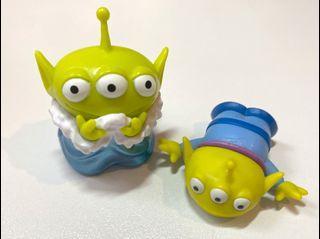 ($108福袋套裝) 絕版 中古  迪士尼 反斗奇兵 三眼仔 公仔 擺設 擺件 收藏 disney toy story pixar alien figure toys doll