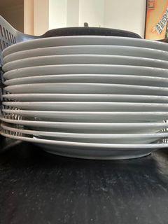 12 white porcelain Gluckstein Home dinner plates