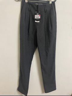 東京著衣  深灰色 顯瘦 毛呢哈倫褲