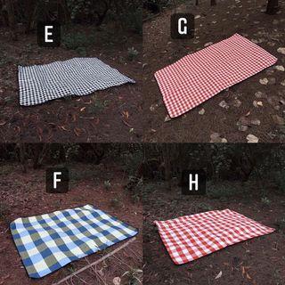 🇺🇸 美式休閒防水防潮野餐墊 露營墊 防水野餐巾 條紋 格紋