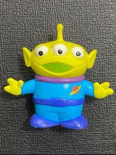 中古 絕版 十兄弟 迪士尼 反斗奇兵 三眼仔 公仔 擺設 擺件 收藏 disney toy story pixar alien charm figure toys doll sega 景品 張手