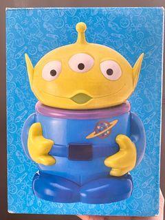 絕版 中古  迪士尼 反斗奇兵 三眼仔 公仔 擺設 擺件 收藏 disney toy story pixar alien figure toys doll coins bank  三眼仔 儲物盒 存錢筒