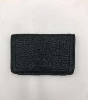 [現貨/ 全新 ]Lacoste全皮黑色名片夾