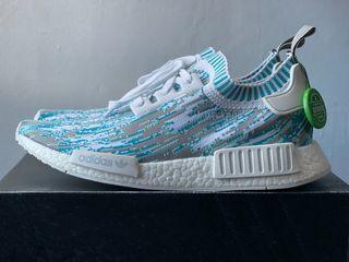 Adidas NMD R1 Sneakersnstuff Datamosh Clear Aqua (Size 10 US)