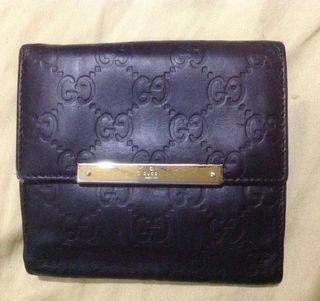Authentic GUCCI guccissima wallet bifold